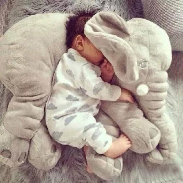30 40 60cm new cute elephant plush toy soft plush pillow plush toy appease elephant pillow comfortable sleeping pillow elephant baby sleeping pillow