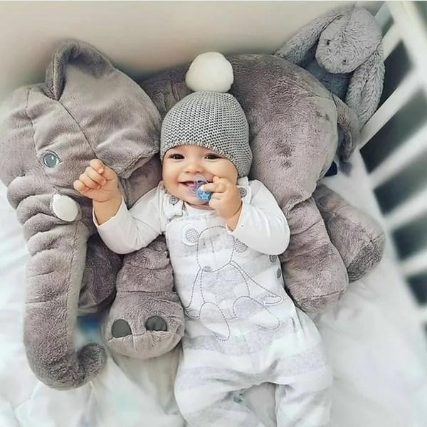 30 40 60cm new six color elephant plush toy soft plush pillow plush toy to comfort elephant pillow comfortable sleep pillow elephant baby sleep