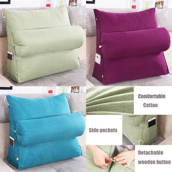 adjustable sofa bed chair office rest neck support back wedge cushion pillow wish