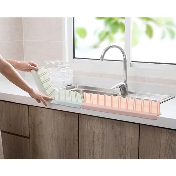 sucker sink baffle splash water baffle splash guard anti splash baffle rack for kitchen sink wish