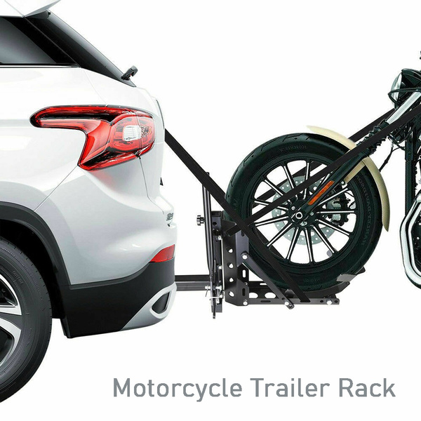 motorcycle 2 receiver trailer hitch carrier pull behind hauler towing rack new wish