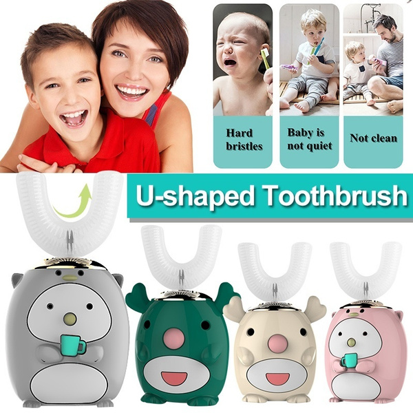 children s u shaped electric toothbrush waterproof 60 seconds automatic sonic cleaning child brushing teeth wish