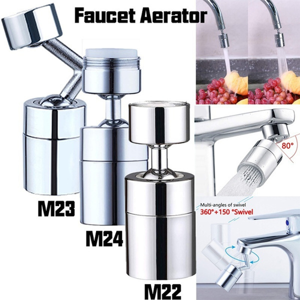 kitchen faucet aerator nozzle faucet adapter m22 m24 thread adjustable 360 rotate water saving movable tap head bubbler wish