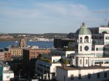 View from Citadel Hill with the Clock Tower in the foreground, Halifax Harbour and Dartmouth on the opposite shore in the background.
