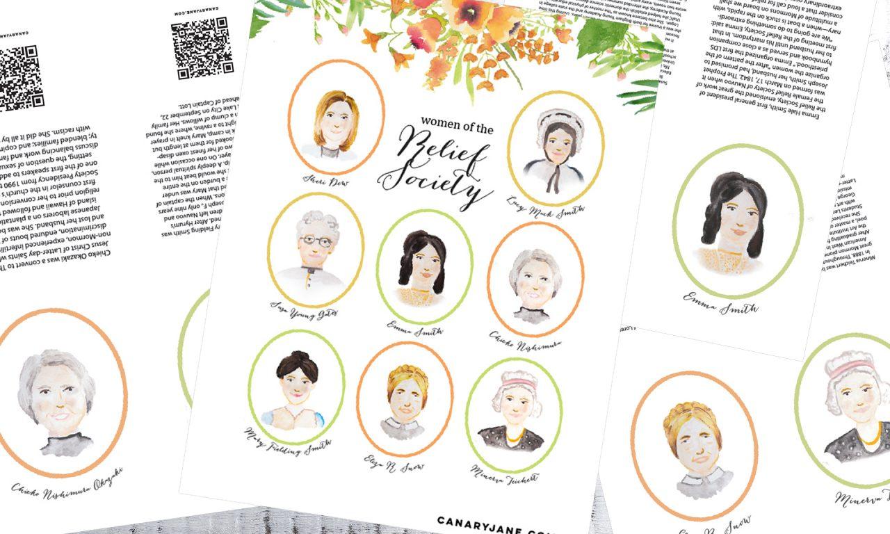 relief society birthday free printables