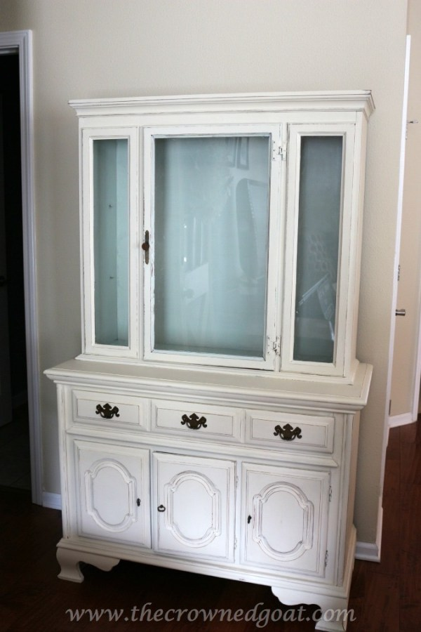 Sea Glass Inspired China Hutch from The Crowned Goat