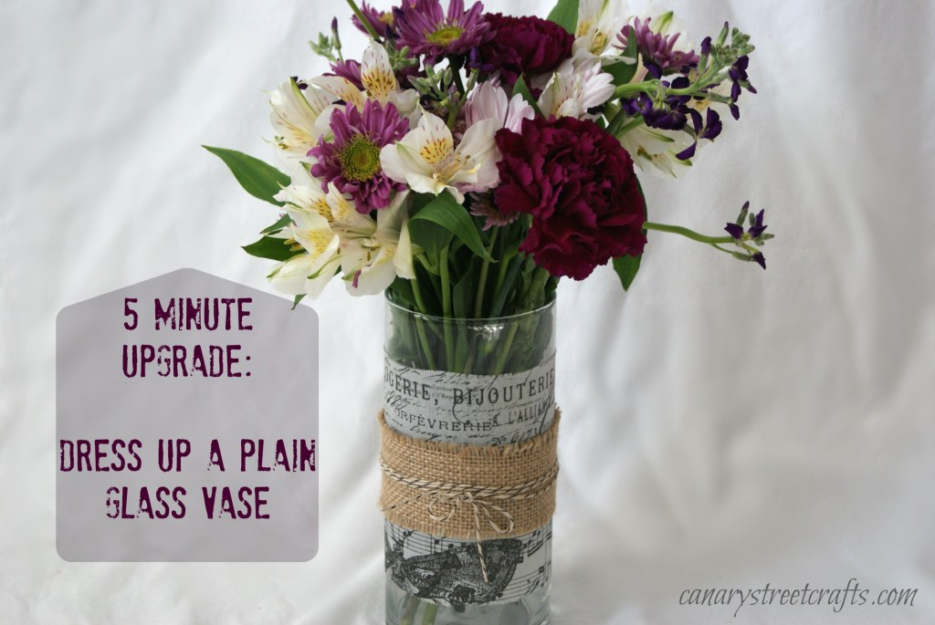 Dress Up A Plain Glass Vase Canary Street Crafts