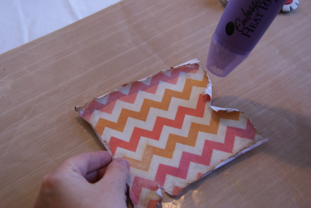 How to distress scrapbook paper