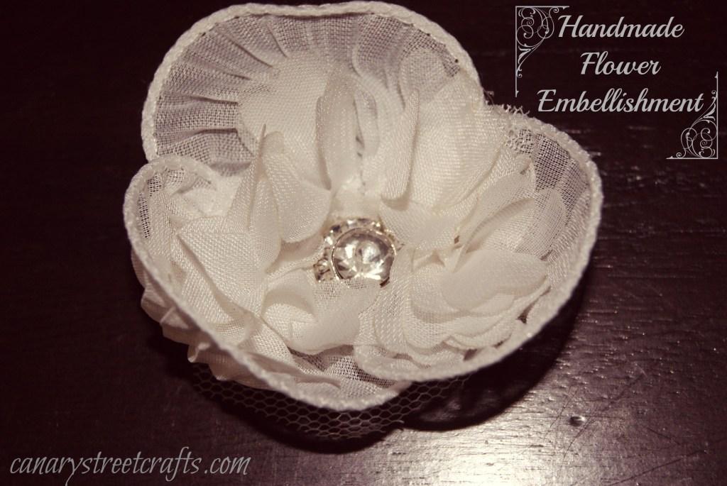 DIY handmade flower embellishment  canarystreetcrafts.com