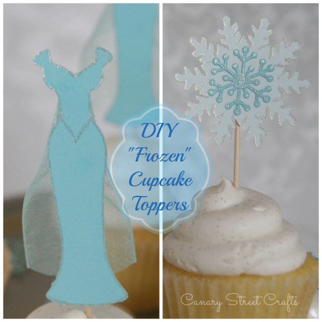 "DIY ""Frozen"" Cupcake Toppers - Canary Street Crafts"