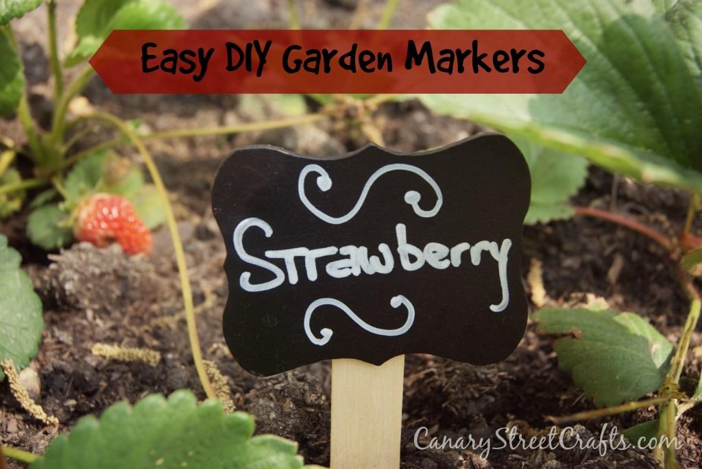 Easy DIY Garden Markers - canarystreetcrafts.com