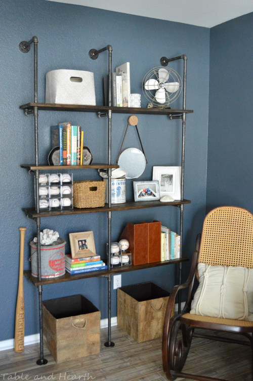 DIY Industrial Shelves from Table And Hearth