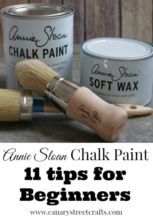 11 fantastic tips for anyone who uses or is thinking about using chalk paint. {Canary Street Crafts}
