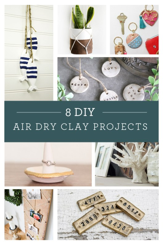 8 fantastic DIY air dry clay projects.  http://canarystreetcrafts.com/