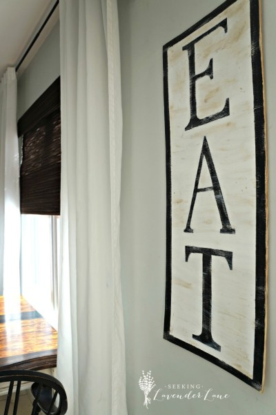 "DIY ""EAT"" Sign {Seeking Lavender Lane}"