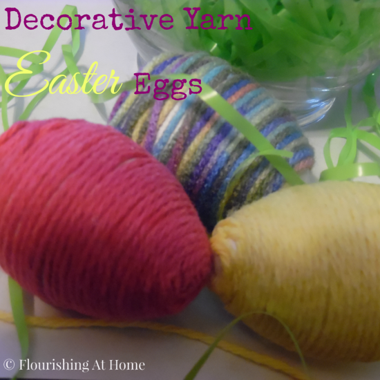 Decorative-Yarn-Easter-Eggs via Flourishing At Home