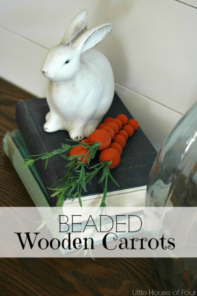 Beaded Wooden Carrots from Little House Of Four