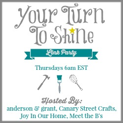 Your Turn To Shine Link Party - canarystreetcrafts.com