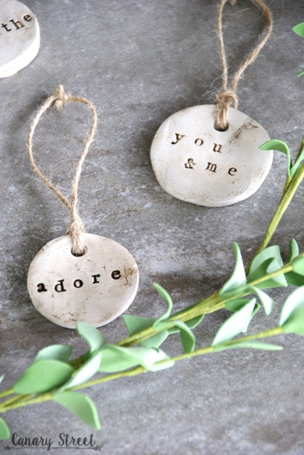 Diy Rustic Clay Tags Canary Street Crafts