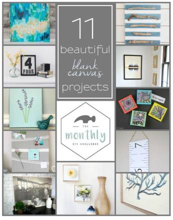 Not sure what to do with those blank canvases from the craft store? Here's 11 unique ideas. https://canarystreetcrafts.com/