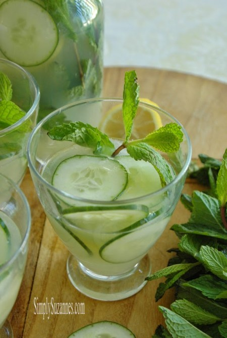cucumber mint lemonade  {Simply Suzanne's At Home}
