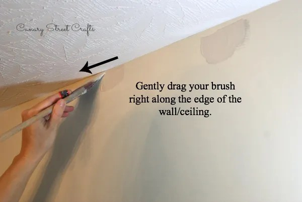 How to cut in and paint a clean edge without using tape! {Canary Street Crafts}