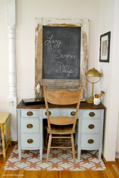 Empire Style Desk Makeover from My Creative Days