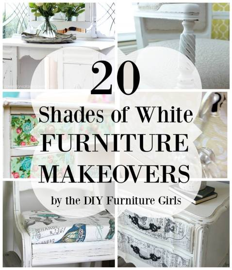 20 gorgeous furniture makeovers in all shades of white. https://canarystreetcrafts.com/