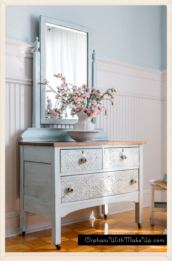 embossing plaster dresser from Orphans With Makeup