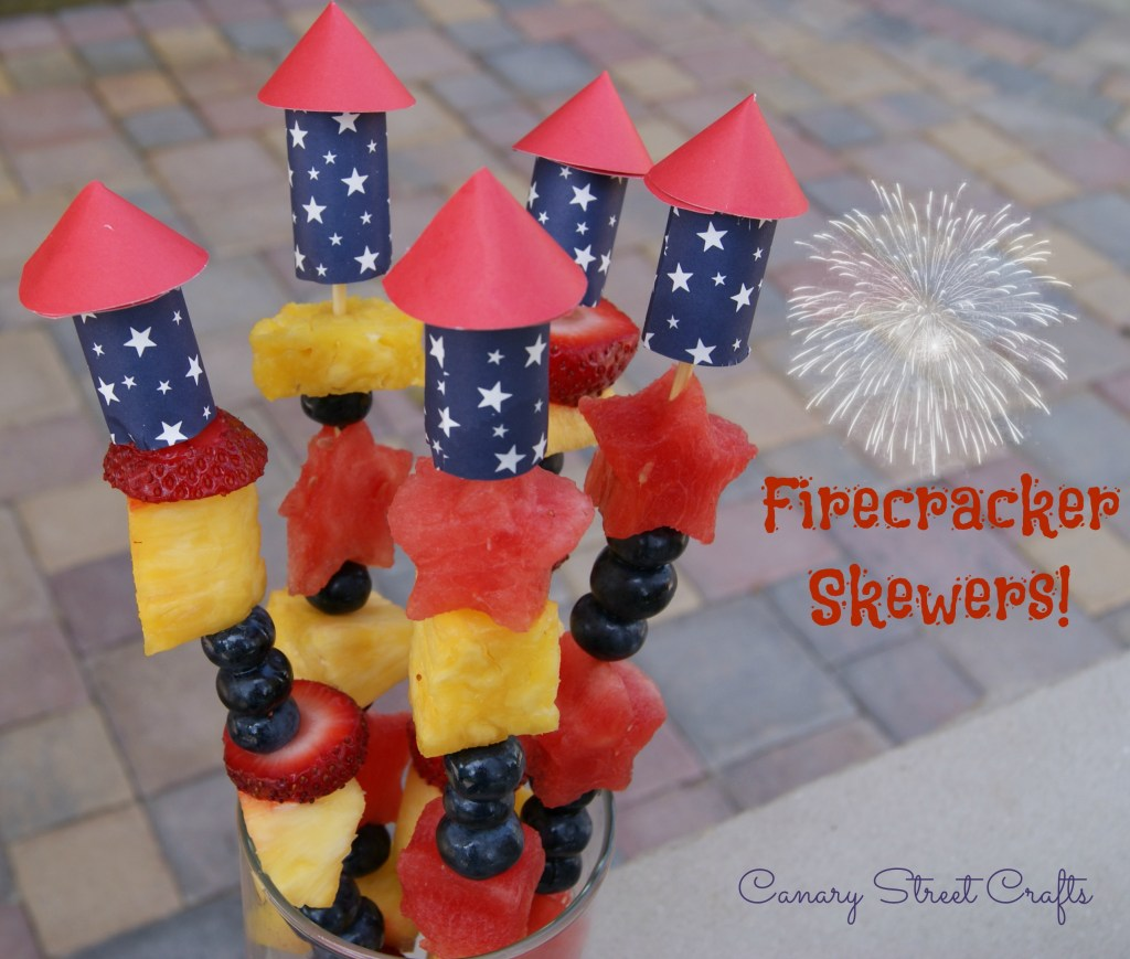 Easy DIY firecracker skewers! - Canary Street Crafts