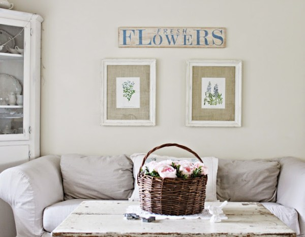 Vintage Style Sign {Happy At Home}