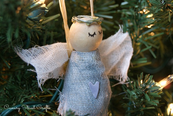Handmade Rustic Angel Ornament {Canary Street Crafts}