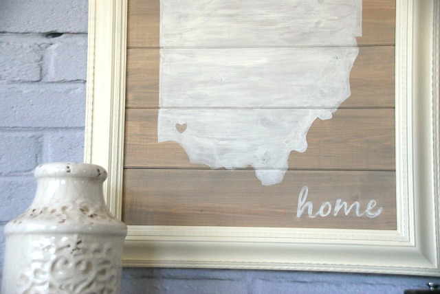 Cute DIY state silhouette wall art. Easier than you think to make! canarystreetcrafts.com