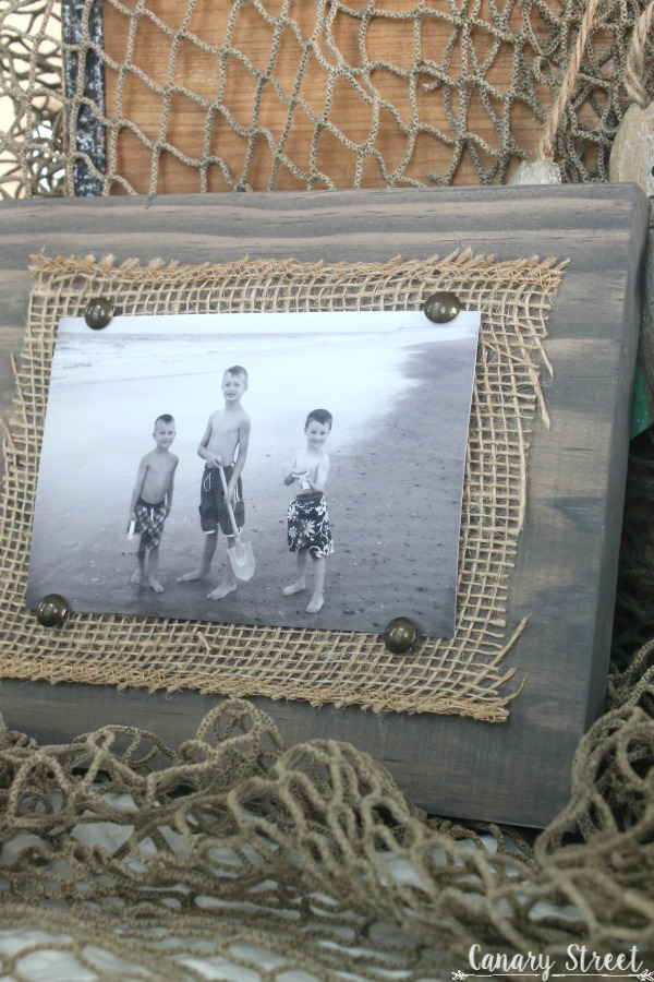 Easy Scrap Wood And Burlap Picture Frame Canary Street Crafts