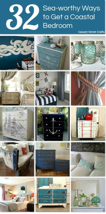 32 Sea Worthy Coastal Bedroom Ideas {Canary Street Crafts}