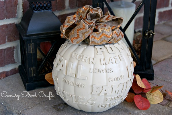 Easy DIY Fall Subway Art Pumpkin!  {Canary Street Crafts}