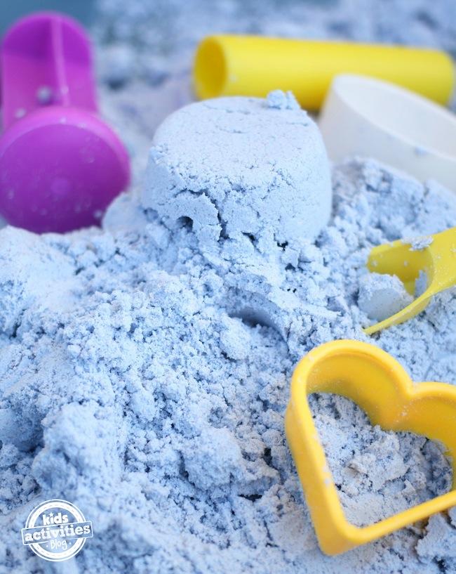 Toddler safe cloud dough  kidsactivitiesblog.com