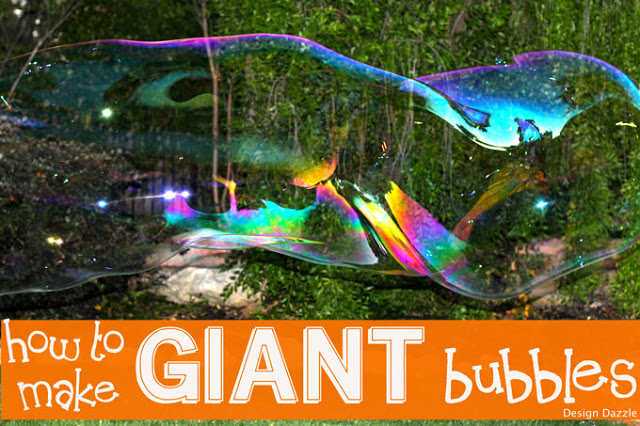 How to make giant bubbles - designdazzle.com