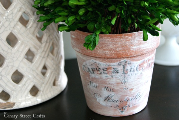 Vintage Inspired Flower Pots from Canary Street