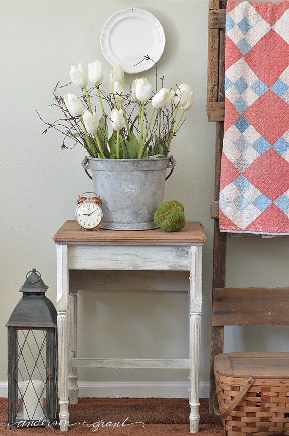 Repurposed Vintage Sewing Table from Anderson & Grant