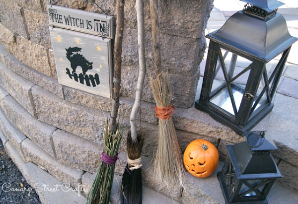 DIY witches' brooms  {Canary Street Crafts}