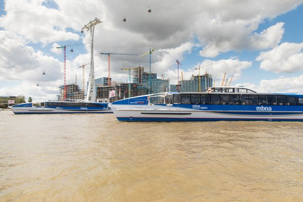 Jupiter and Mercury Clippers on the Thames together for the first time