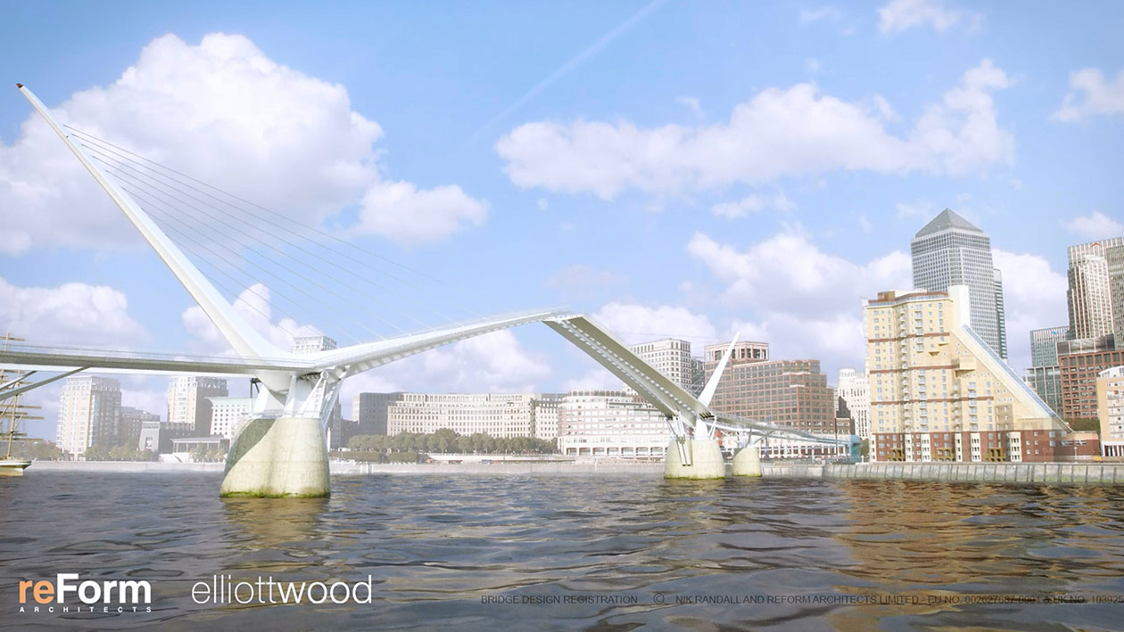 An artist's impression of a possible Rotherhithe to Canary Wharf link