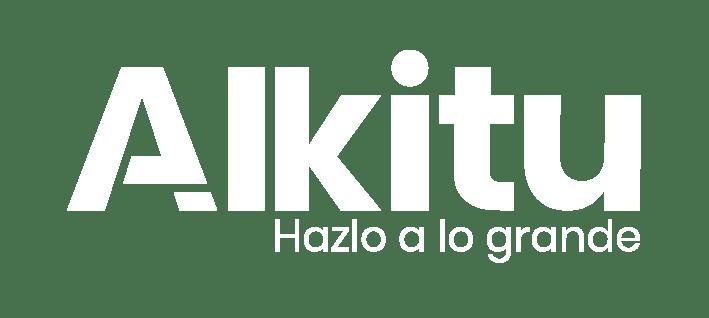 Alkitu - Logo Blanco (Eslogan)@300x