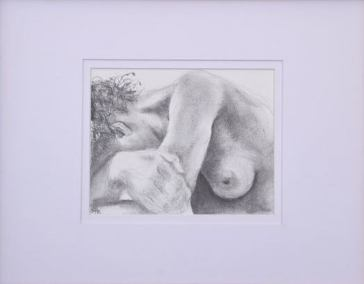 Ann-Maree Hastings, 'Rest', charcoal