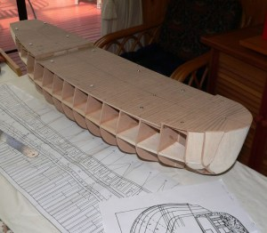 Construction of the 1:32 scale HM Bomb Vessel Granado by George Crossan