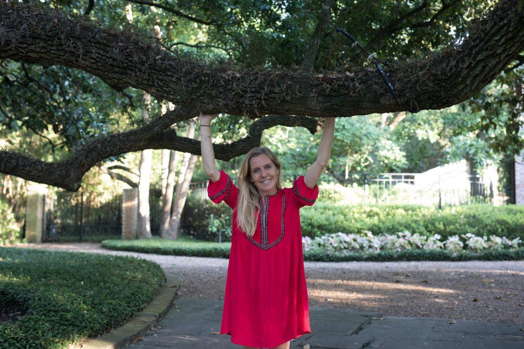 Delphine Remy à Houston avant de commencer la chimiothérapie