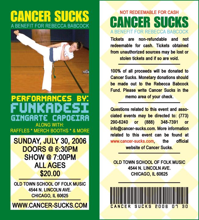 Cancer Sucks A Benefit For Rebecca Babcock