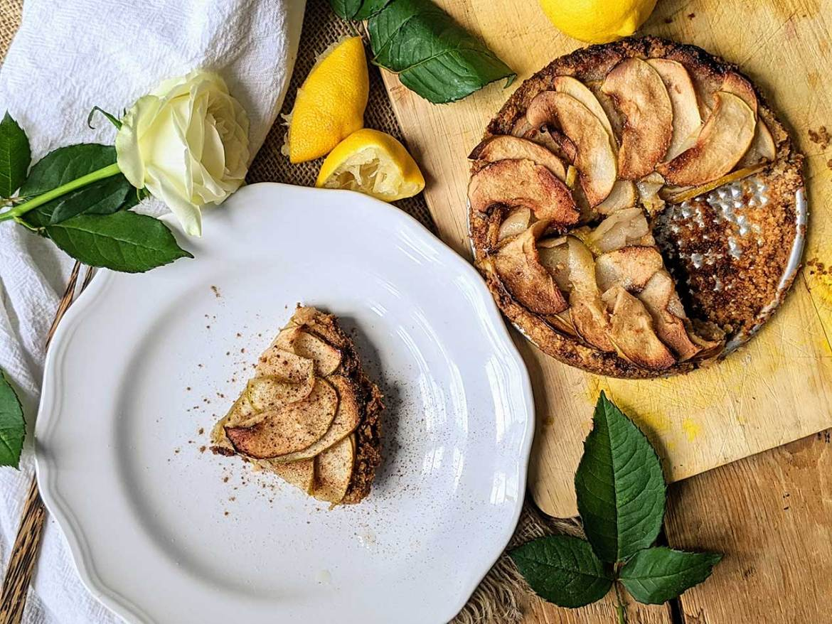 Low carb simple apple tart