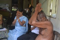 Chanting Pirith for the patient....
